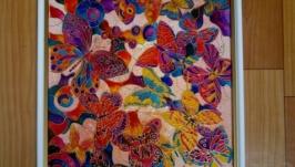 Розпис по склу з метеликами