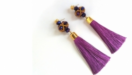 Серьги ′Пурпур′