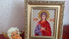 Икона Св.Любовь. 13 цветов бисера.