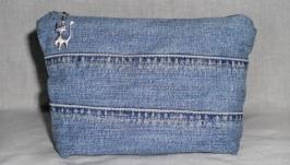 Косметичка джинсовая