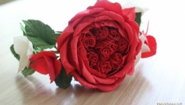 Троянда з гортензіями