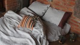 Комплект лляної постільної білизни ′Львівський′ з декоративною наволочкою