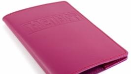 Обложка на паспорт кожаная розовая