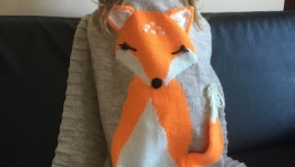 Детский плед-лисичка