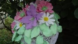 Интерьерный цветочный шар