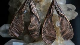 Серьги ′Кленовые крылатки′