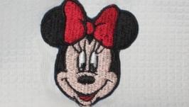 Брошь - Минни Маус (Minnie Mouse) патч, для декора