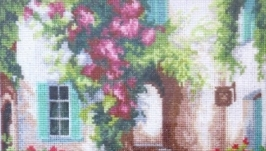 Каритина вышитая крестиком ′Уютный дворик′