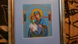 Вишивка Ерусалимська ікона (ювелірна вишивка)