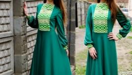 Платье с Венецианской вышивкой