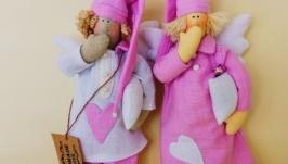 Сонный Ангел Тильда. Тильда Ангел Хранитель снов. Интерьерная кукла оберег.