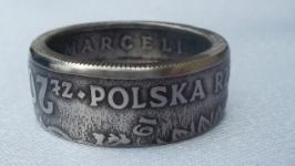 Кольцо из монеты 20 злотых