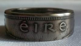Кольцо из монеты 1 шиллинг Ирландия