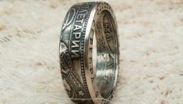 Кольцо из монеты 50 копеек 1924 Серебро