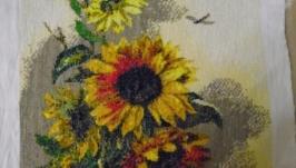 Вишита картина ′Соняшники′-2. Торг.