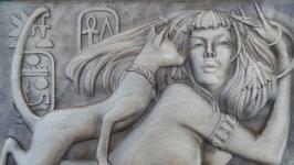 Панно ′Египет кошка с дамой′