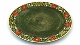 Блюдо Вінок зелене велике