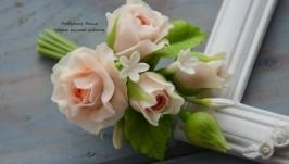 «Персиковые джем» бутоньерка