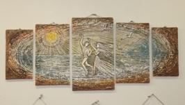 Керамічне панно ′Пляж′.