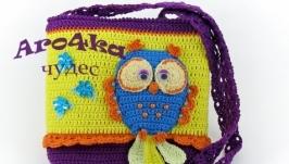 Вязаная детская сумочка ′Совушка′
