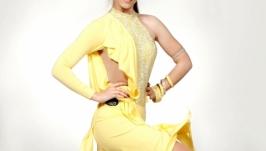Платье для бальных танцев (латина) SASSY YELLOW