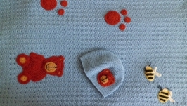 Плед для новорожденного мальчика