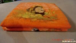Плед- оранжевй лес для веселых зверят