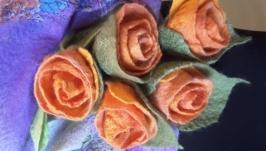 Палантин ′Чайные розы′