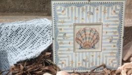 Вышивка Ракушка в морском стиле