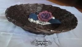Хлебница плетеная (ручная работа)