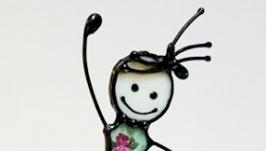 фігурка-балерина вітражна