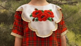 Вышитое бисером платье на 6-8 лет