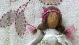 Лялька мотанка авторська, горішкова