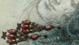 Серьги ′Розовый сад′