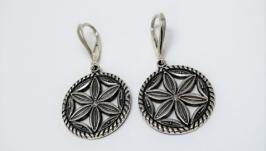 Сережки жіночі Громове колесо оберіг срібло