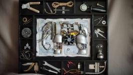Шеддоу бокс в стиле лофт ′Mechanical Elephant′