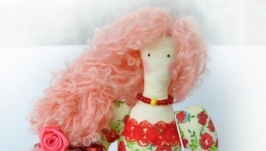Кукла тильда цветочница