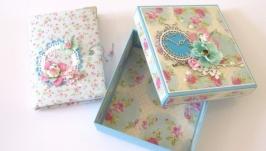 Подарочный набор: блокноткоробочка