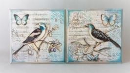 Два панно ′Птички′