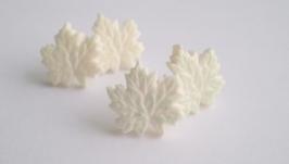 Серьги-гвоздики ′Белый клен′, коллекция sweetly rechi