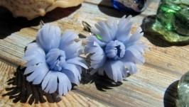 Серьги ′Голубые Гвоздики′
