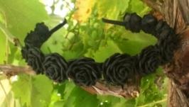 Обруч для волос Чёрные Розы