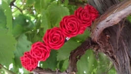 Обруч для волос Красные Розы