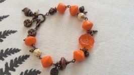 Браслет ′Оранжевый цветок′