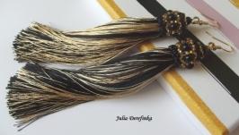 Сережки Чорне золото