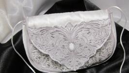 Клатч кружевной «Нежность» для выпускного, свадьбы, торжества