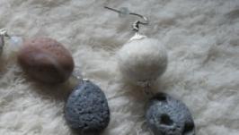 Серьги ′Морские камушки′