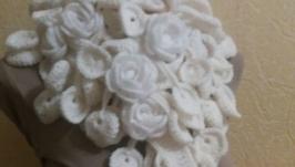Шарф ′Зимние розы′
