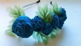 Обруч ′Синие розы′