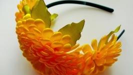 Обруч для волос ′Хризантемы′